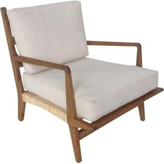 Allister Chair with Rattan and Teak