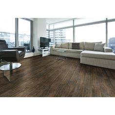Burton Walnut Wood Plank Porcelain Tile - 6in. x 24in. - 100436062 | Floor and Decor