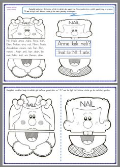 Literacy Worksheets, Math Literacy, First Grade, Grade 1, Dinosaurs Preschool, Christmas Math, Colouring Pages, Puppets, Alphabet