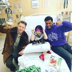"""Super C is ready for Halloween... Got that wig from the ""Thrift Shop!"" @Macklemore @SeattleChildrens @StrongAgainstCancer 10.13.15 #PassThePeace"""