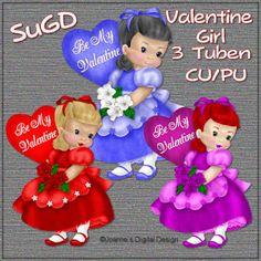 Dagny`s Scrap und Grafik Design: CU/PU Valentine Girl
