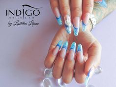 by Laetitia Leone, Double Tap if you like #mani #nailart #nails Find more Inspiration at www.indigo-nails.com