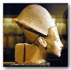 Pharoah Akhenaten Limestone Bust . The Pharoah Akhenaten is said to have abolished the Egyptian Gods & the religion of the Egyptian people; when he died the priests had their revenge by cursing his spirit to wander the deserts for eternity .
