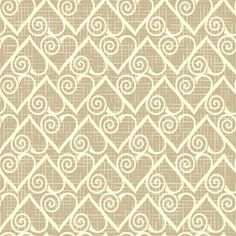 Romantic vintage pattern with hearts fabric by antuanetto on Spoonflower - custom fabric