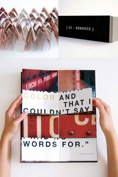 Experimental book design, (52 Hundred)