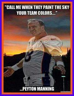 Pretty sure the sky is blue with silver stars so. Go cowboys! Denver Broncos Football, Go Broncos, Broncos Fans, Best Football Team, Football Memes, Manning Football, Football Parties, Football Stuff, Super Bowl