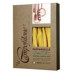 Pappardelle, pâtes aux oeufs frais // Italian fresh eggs Pasta - La Campofilone.  www.lesproducteursdecaractere.com