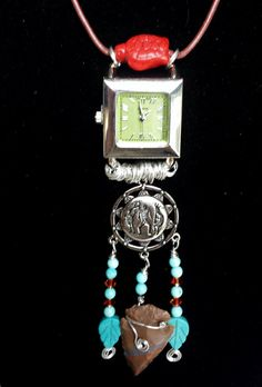 $83.00 ~ Nurses Watch ~ Upside Down Pendant Necklace Timepiece ~ Unique Gift For Graduate RN, Caregiver ~ Handmade In Canada ~ Unisex Watch ~ Use discount code PIN10 for 10% off in my Etsy shop