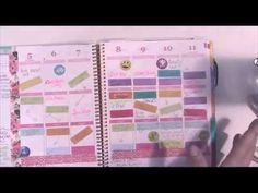 My Erin Condren Planner Sticker System - YouTube