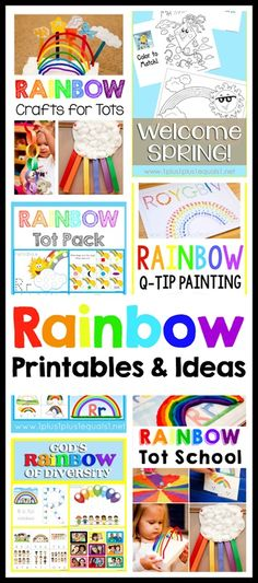 Rainbow Theme Printables and Ideas