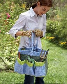 Crochet Gardening Bag