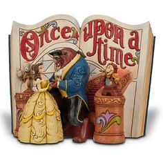 Disney Beauty and the Beast Story Book Figurine by Jim Shore | Disney Store