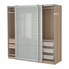IKEA - PAX, Kleiderschrank, , , Inklusive 10 Jahre Garantie. Mehr darüber in der Garantiebroschüre.Diese PAX/KOMPLEMENT Kombination lässt sich nach Wunsch und den häuslichen Gegebenheiten mit dem PAX Planer umgestalten.Schiebetüren sorgen für mehr Bewegungsfreiheit im Raum, da sie beim Öffnen weniger Platz erfordern.Die hierauf abgestimmte KOMPLEMENT Inneneinrichtung nutzt den Schrankraum optimal.Höhenverstellbare Fußkappen sorgen für Standfestigkeit auch bei leicht unebenem Boden.