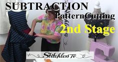How to do subtraction pattern cutting Stage 2