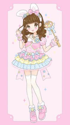 anime art girl baby baby doll baby girl background beautiful girl bunny cartoon cute baby drawing fashion illustration illustration girl kawaii little girl pastel sweet girl sweet lolita wallpapers we heart it loli pink background b Chibi Kawaii, Loli Kawaii, Cute Anime Chibi, Kawaii Art, Kawaii Anime Girl, Anime Art Girl, Cute Kawaii Drawings, Anime Girl Drawings, Cute Animal Drawings