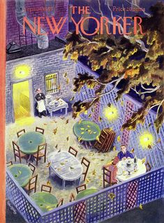 The New Yorker Cover - September 1949 Poster Print by Tibor Gergely at the Condé Nast Collection The New Yorker, New Yorker Covers, Magazine Art, Magazine Covers, New Yorker Cartoons, Vintage Magazines, Vintage Advertisements, Book Design, Cover Art
