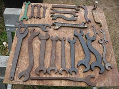 Antique Primitive Assorted Wrench Lot 24pcs Industrial Steampunk