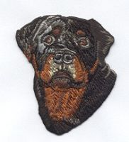 Rottweiler DOG ROTTIE Beautiful Details Iron or Sew On patch by Cedar Creek Patch Shop on Etsy