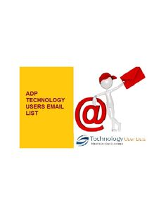 Save your time and money with ADP Users mailing addresses.