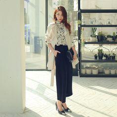 트윗 트렌치 - 위드이픈   Korean Fashion - IPUN ♡