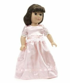 """18 Inch Doll Clothes Pretty Nightgown - Fits American Girl Dolls Includes 18"""" Slippers by Wish Doll Company. $14.99. Fantastic attention to detail with lace and ribbon trimming. Made to fit 18 Inch dolls such as American Girl, Madame Alexander, My Generation, etc.. Luxurious high quality fabrics, machine washable, safety tested. Lovely pale pink satin floor length nightgown - victorian style perfect for Samantha. Includes pretty pink satin slippers with elastic so th..."""