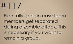 Again, don't think a zombie apocalypse will happen, but good to know if something else does.