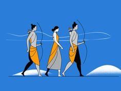 Shree Ram Navmi by Milind Bhavsar on Dribbble Shiva Art, Krishna Art, Hindu Art, Lord Shiva Painting, Krishna Painting, Shree Ram Images, Shree Ram Photos, Ram Navmi, Indian Art Paintings