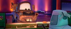 """I'll have some of that there pistachio ice cream."" -Mater, Cars 2 Favorite Cars quote ever!"