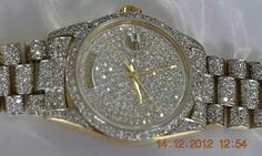 """Pablo Escobar's 14K Gold Diamond inlaided $1 Million Dollar Rolex """"It was Sold in a Action for $12 Million US Dollar's"""" to a Undisclosed Buyer Who Payed Cash for it on December 15, 2012. It Was Later Seen Being Worn by EL Chapo Guzman......."""