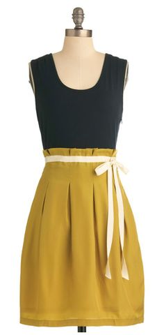 Gold Yellow Casual Dresses