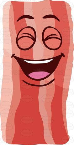 A laughing strip of bacon #cartoon #clipart #vector #vectortoons #stockimage #stockart #art
