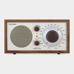 Love this elegant radio housed in a  handmade wooden cabinet. Works with iPods as well. Great #weddingregistry gift.