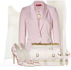 """Pink office attire"" by leilani-almazan on Polyvore"