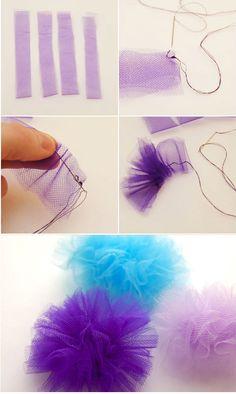tule flower craft #diy Tule vind je o.a. bij www.bijviltenzo.nl