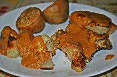 Herb-Roasted Chicken with Cream Gravy Cream Gravy, Herb Roasted Chicken, Eating Well, Muffin, Herbs, Breakfast, Food, Morning Coffee, Muffins