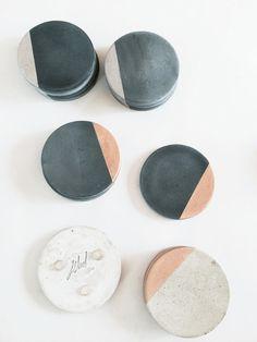Carbón de leña montaña concreta con plata juego de por MadeByRheal