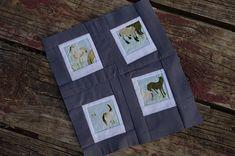 Polaroid quilt block- paper piecing version.