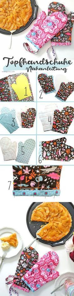 DIY sewing instructions: sew pot gloves or oven gloves yourself DIY fabric .DIY sewing instructions: sew pot gloves or oven gloves yourself DIY fabric craft fabric craft diy fabric craft for kids fabric craft no Baby Knitting Patterns, Crochet Patterns, Baby Patterns, Sewing Dress, Diy Dress, Knitting Projects, Sewing Projects, Knitting Ideas, Diy Projects