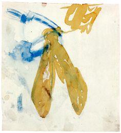 Joseph Beuys - Queen Bee, 1955 - watercolor, ferrous chloride