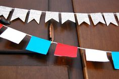 Patriotic duct tape banner!