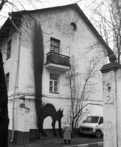 Black Cat Street Art