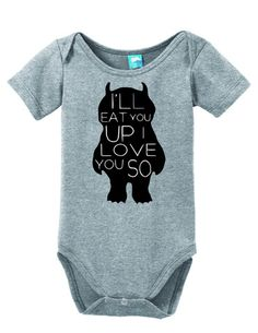 I'll Eat You Up I Love you So Onesie Funny Bodysuit Baby Romper