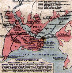 Medieval Atlas - Map of Constantinople
