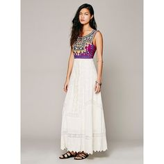 Free People Ethnic Romance Dress found on Polyvore