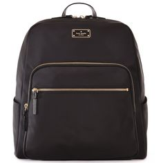 a6d109dfc4c3e Kate Spade Large Hilo Blake Avenue Laptop Backpack - Black Backpack Straps
