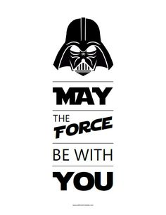 May The Force Be With You Free Printable - Printable Star Wars - Ideas of Printable Star Wars - May The Force Be With You Free Printable Meninas Star Wars, Star Wars Classroom, Anniversaire Star Wars, Star Wars Personajes, Star Wars Crafts, Printable Star, Star Wars Quotes, Star Wars Day, Star Wars Wallpaper
