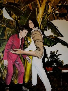 the long arm of the law of the jungle Miguel Laino . UK Acrylic Size: 59.8 x 48 x 1.6 in