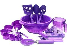 Purple kitchen tool set.... where can i find these... let me just dream about them!