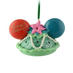 disney christmas the little mermaid princess ariel ear hat ornament new with tag