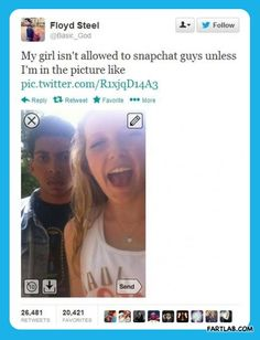 Jealous boyfriends…but with Colton I wouldn't even be allowed to snapchat in the first place haha